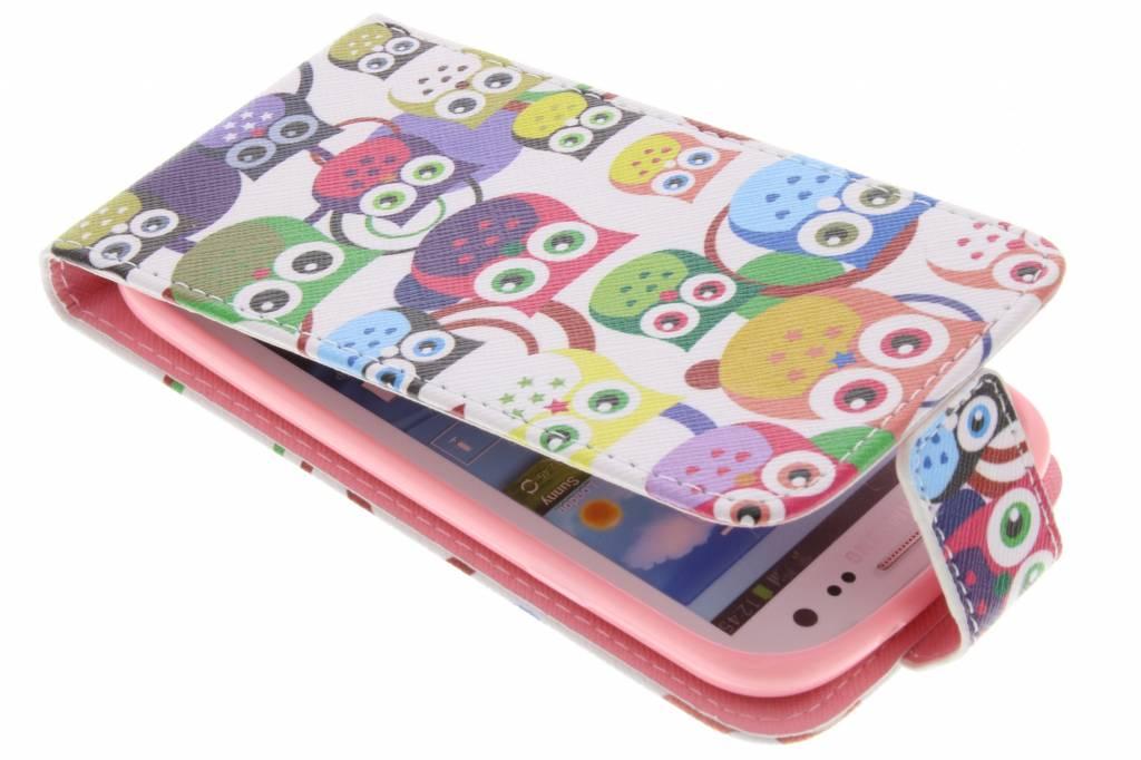 Uitljes design TPU flipcase voor de Samsung Galaxy S3 / Neo