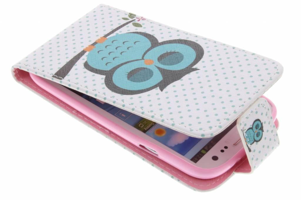 Uil design TPU flipcase voor de Samsung Galaxy S3 / Neo