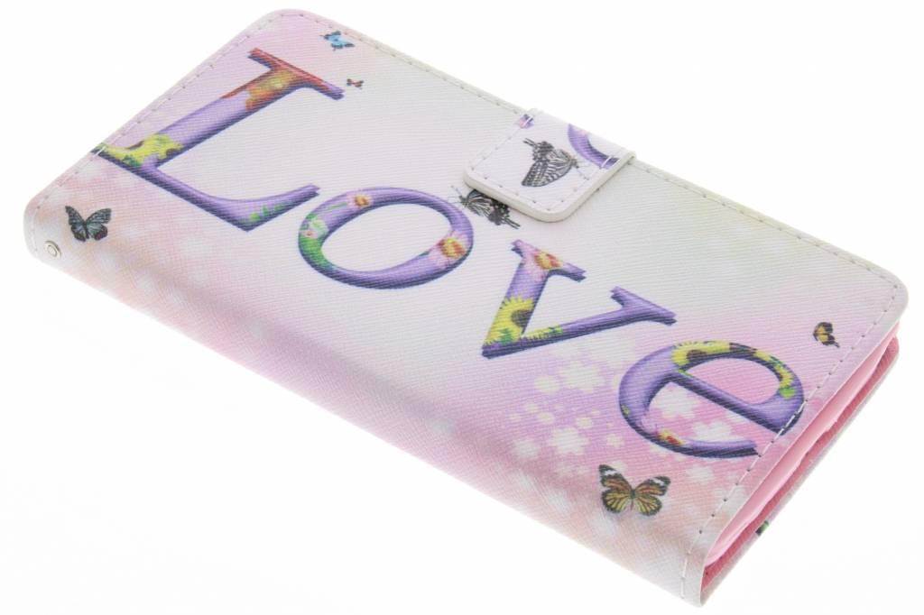 Love design TPU booktype hoes voor de Samsung Galaxy Note 4