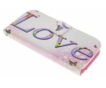 Design TPU booktype hoes HTC One Mini 2