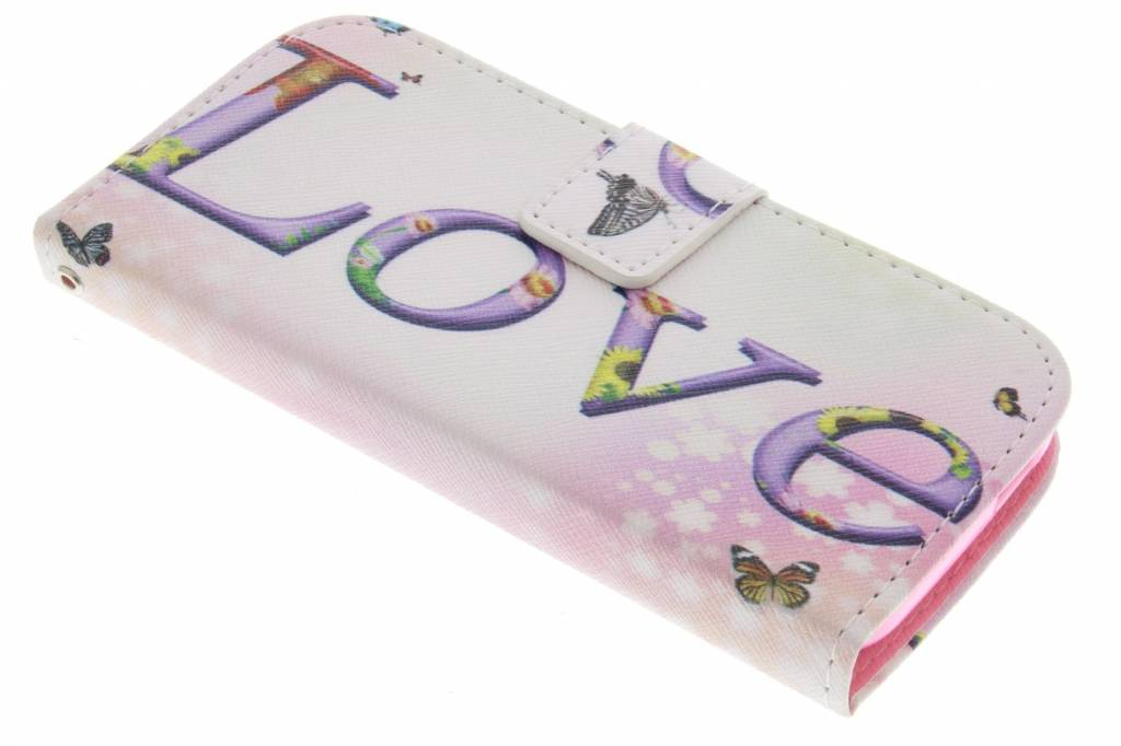 Love design TPU booktype hoes voor de HTC One Mini 2