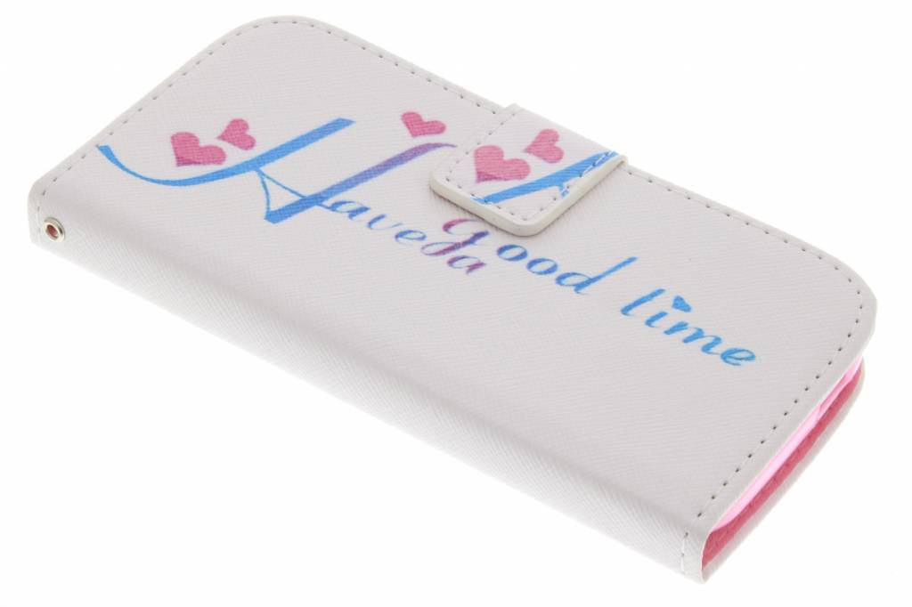 Have a good time design TPU booktype hoes voor de HTC One Mini 2