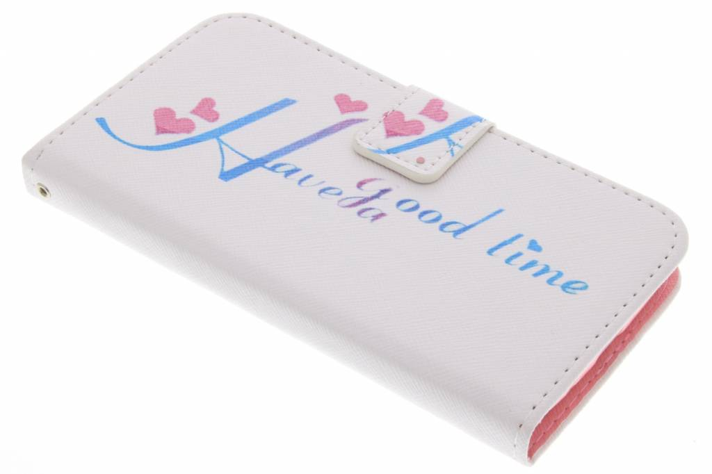 Have a good time design TPU booktype hoes voor de Samsung Galaxy Grand (Neo)