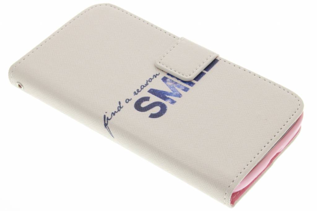 Smile design TPU booktype hoes voor de Samsung Galaxy Grand (Neo)