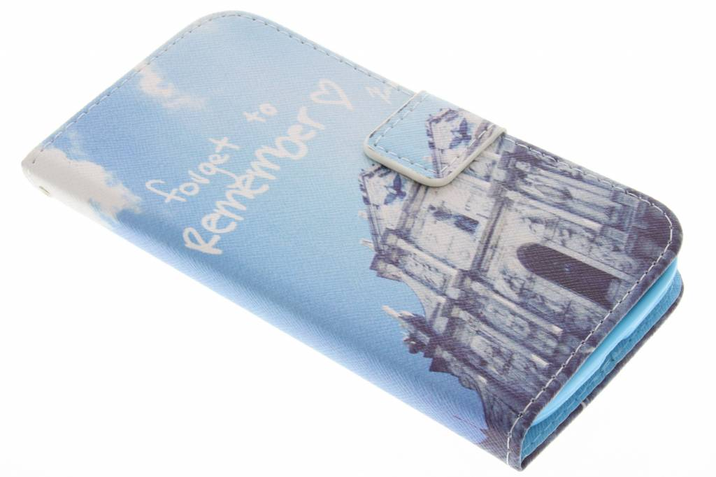 Forget to remember design TPU booktype hoes voor de Samsung Galaxy Grand (Neo)