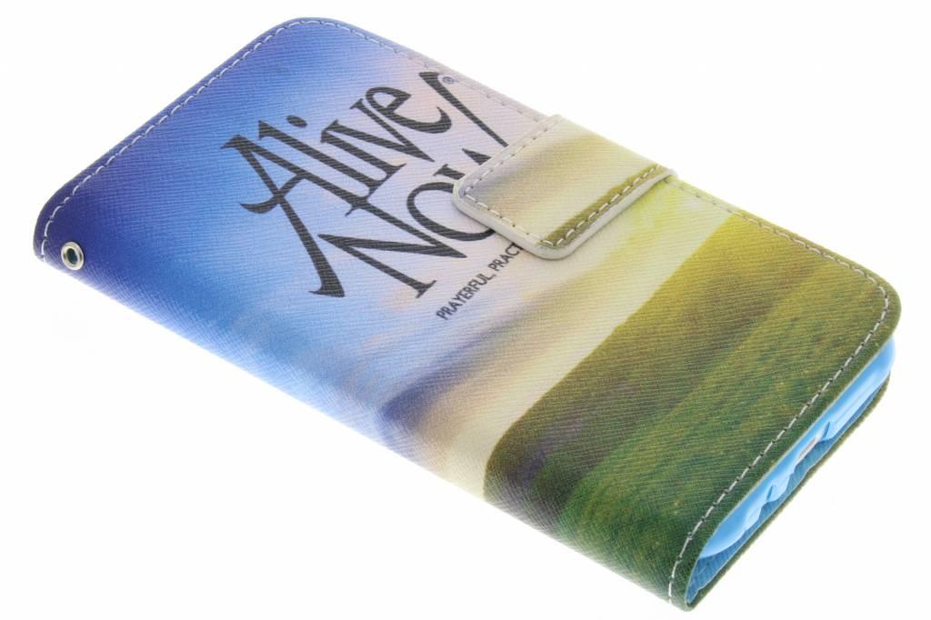 Alive now design TPU booktype hoes voor de Samsung Galaxy J1