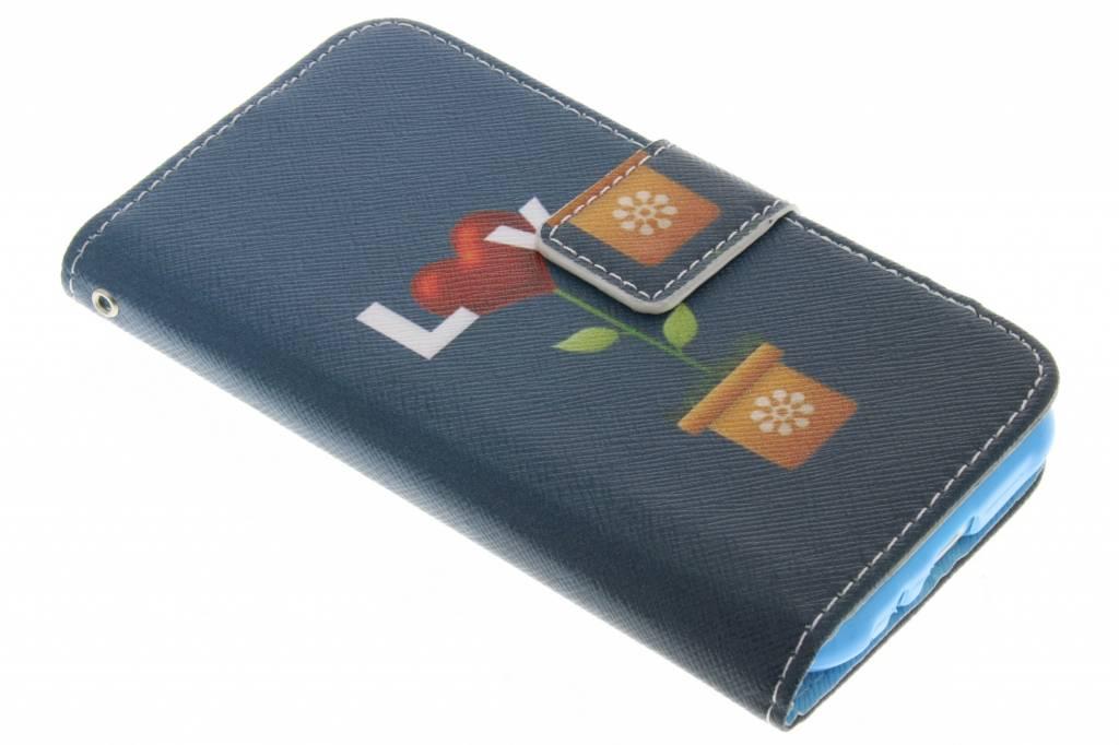 Love design TPU booktype hoes voor de Samsung Galaxy J1
