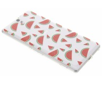 Transparant fruit design TPU hoesje Sony Xperia C5 Ultra