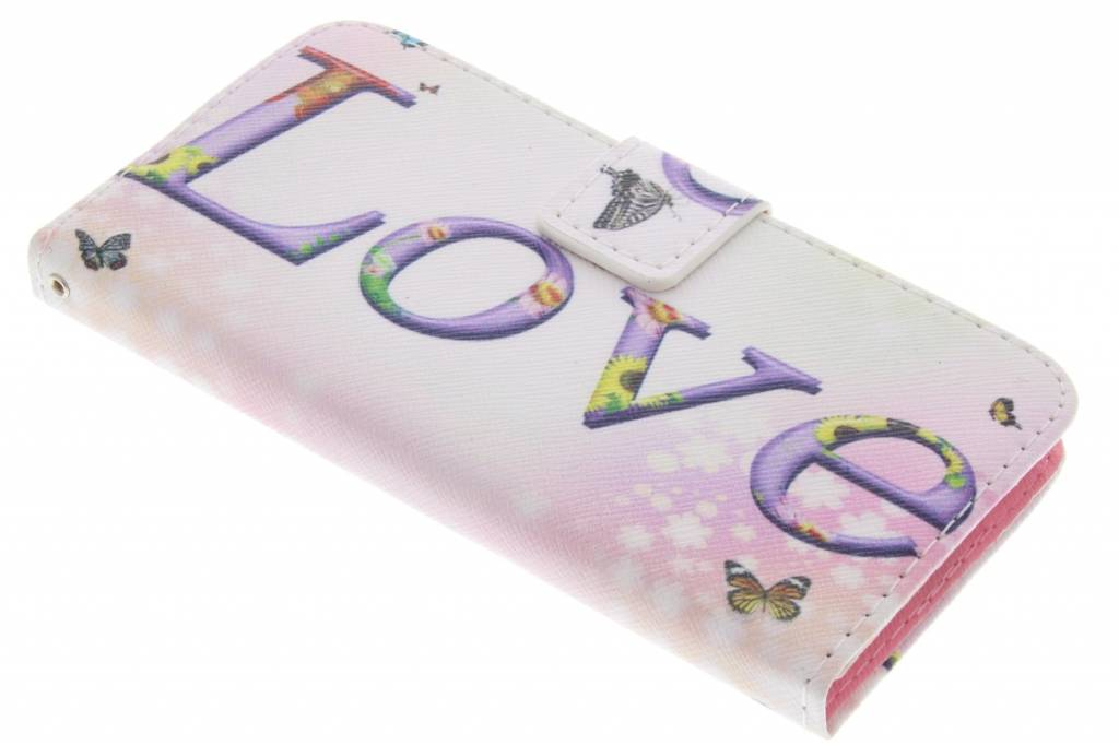 Love design TPU booktype hoes voor de Samsung Galaxy Alpha