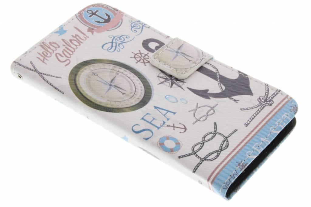 Sailor design TPU booktype hoes voor de Samsung Galaxy Alpha