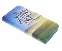Design TPU booktype hoes Samsung Galaxy Alpha