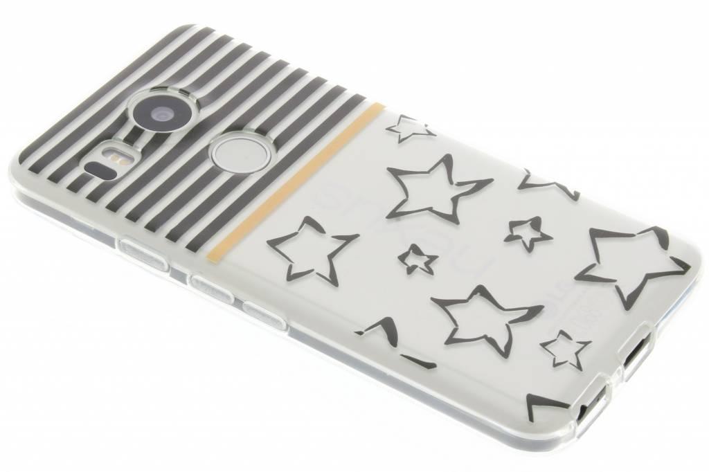 Streep design TPU siliconen hoesje voor de LG Nexus 5X