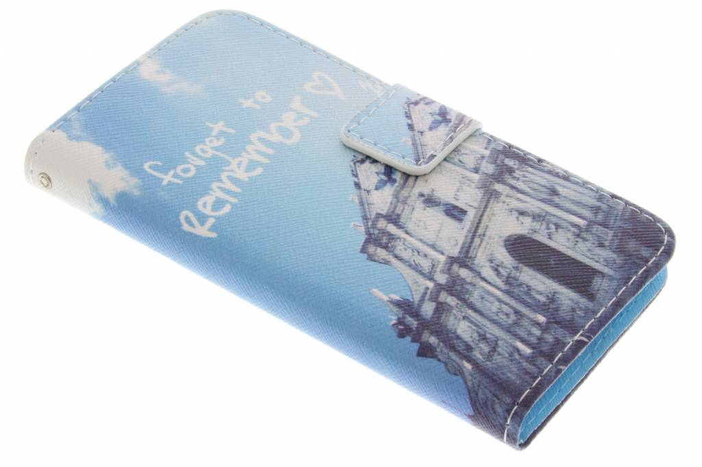 Forget to remember design TPU booktype hoes voor de Samsung Galaxy Alpha
