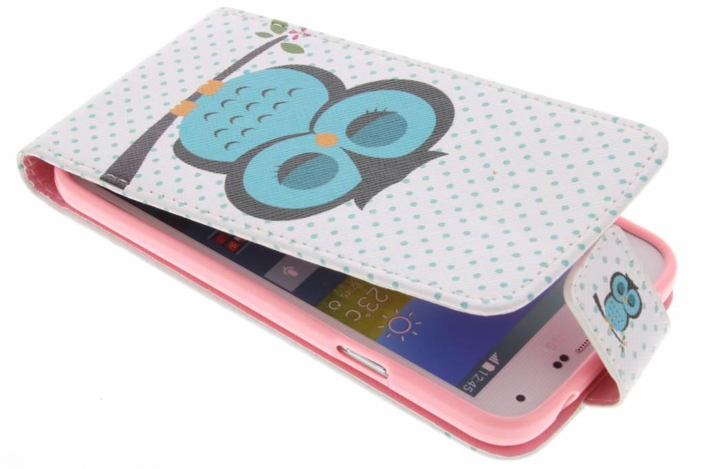 Uil design TPU flipcase voor de Samsung Galaxy S5 (Plus) / Neo
