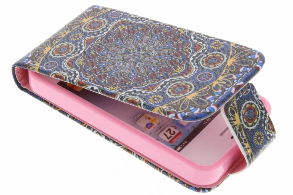 Mandala design TPU flipcase voor de iPhone 4 / 4s