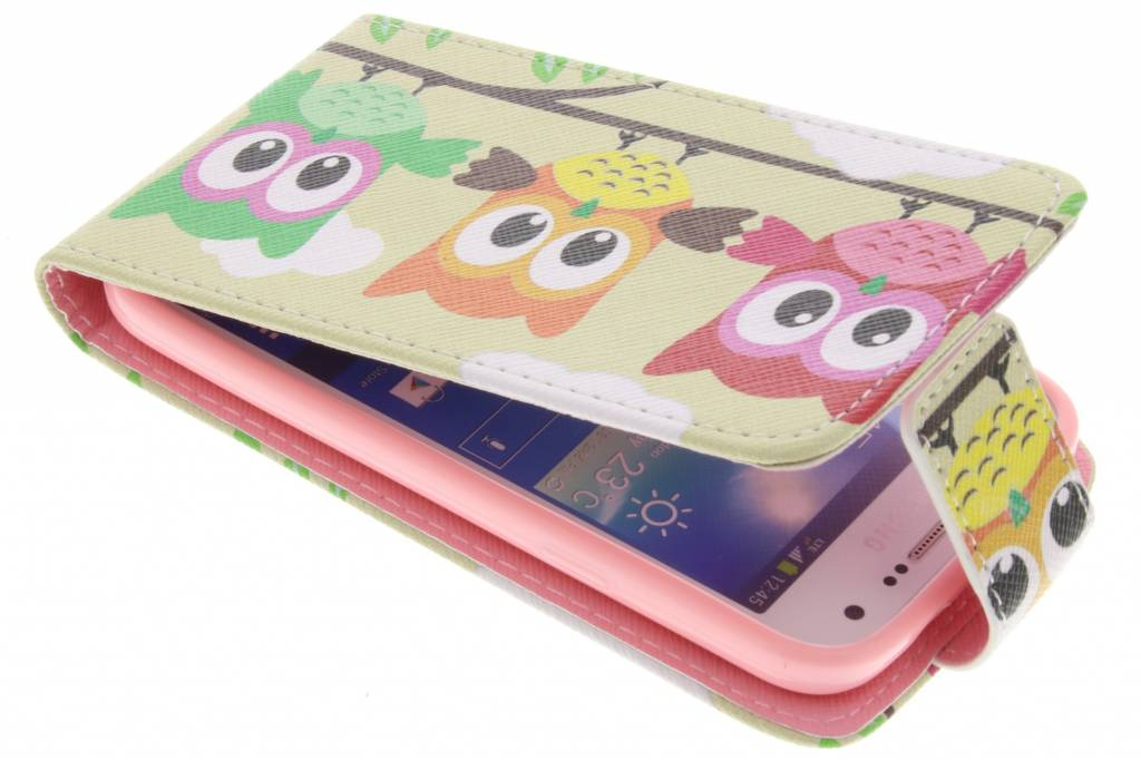 Uiltjes design TPU flipcase voor de Samsung Galaxy S4 Mini