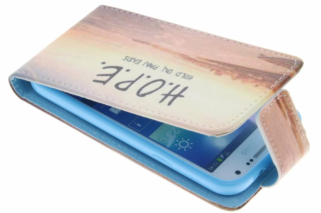 Hope design TPU flipcase voor de Samsung Galaxy S4 Mini