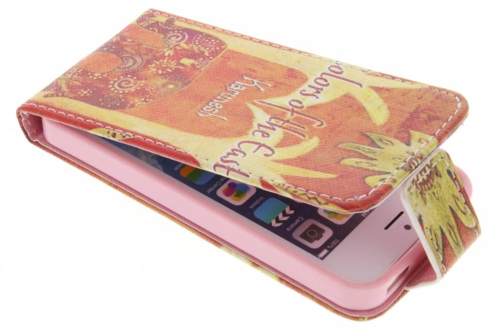 Olifant design TPU flipcase voor de iPhone 5 / 5s / SE