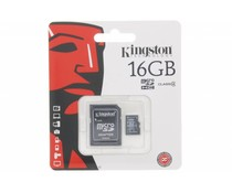 Kingston 16GB Micro SDHC geheugenkaart + SD adapter