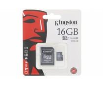 Kingston 16GB Micro SDHC klasse 10 geheugenkaart + SD adapter