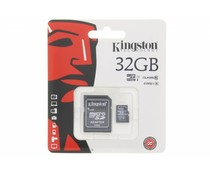 Kingston 32GB Micro SDHC klasse 10 geheugenkaart + SD adapter