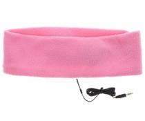 Roze hoofdband met koptelefoon