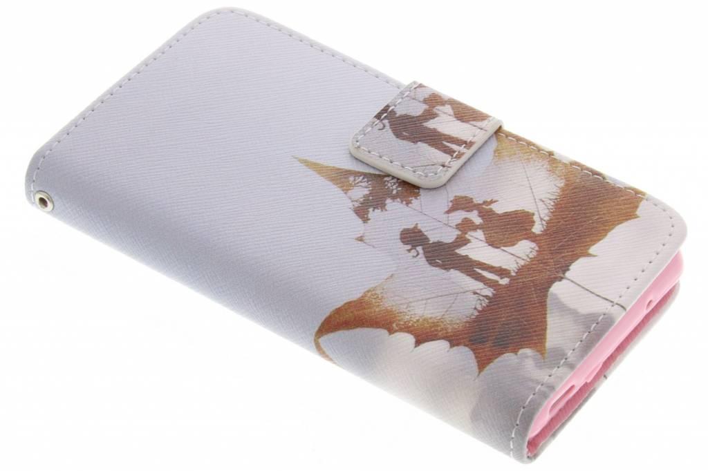 Jongen en meisje design TPU booktype hoes voor de Sony Xperia Z3 Compact