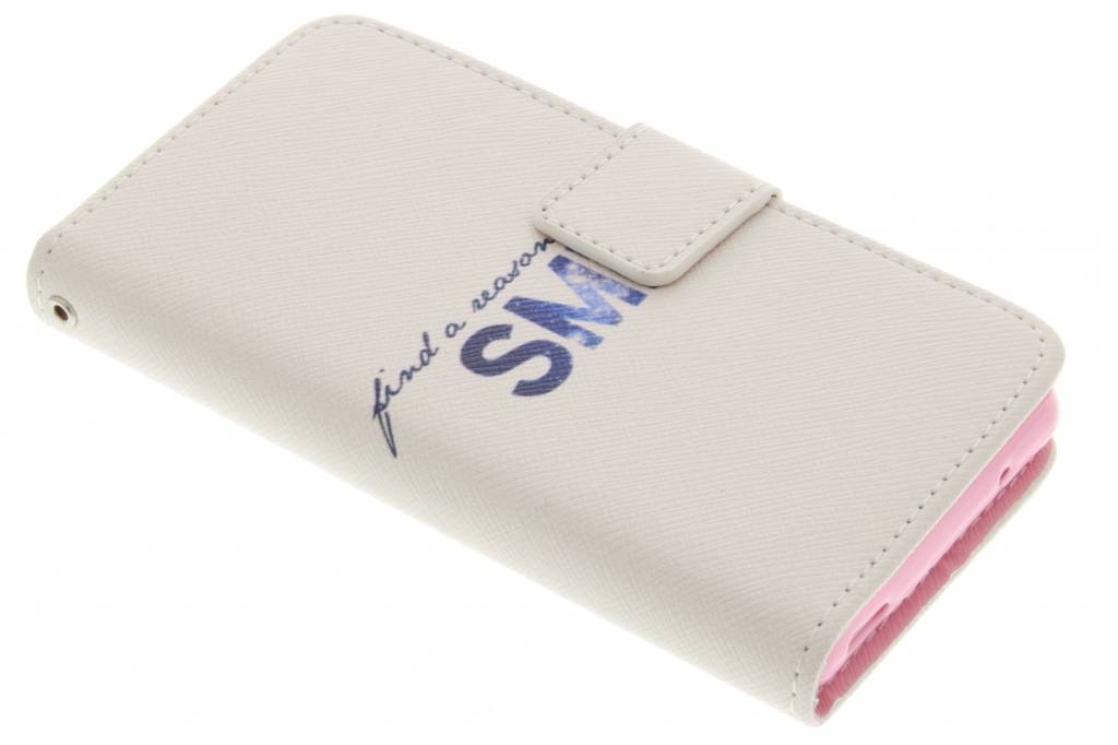Smile design TPU booktype hoes voor de Sony Xperia Z3 Compact
