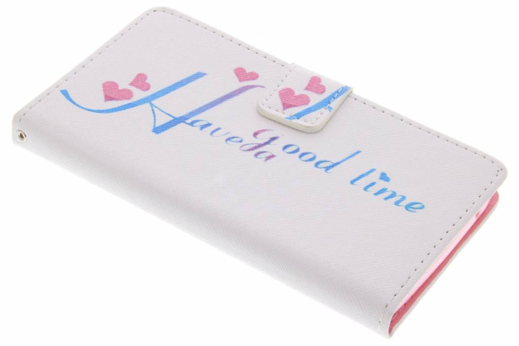 Have a good time design TPU booktype hoes voor de Wiko Rainbow
