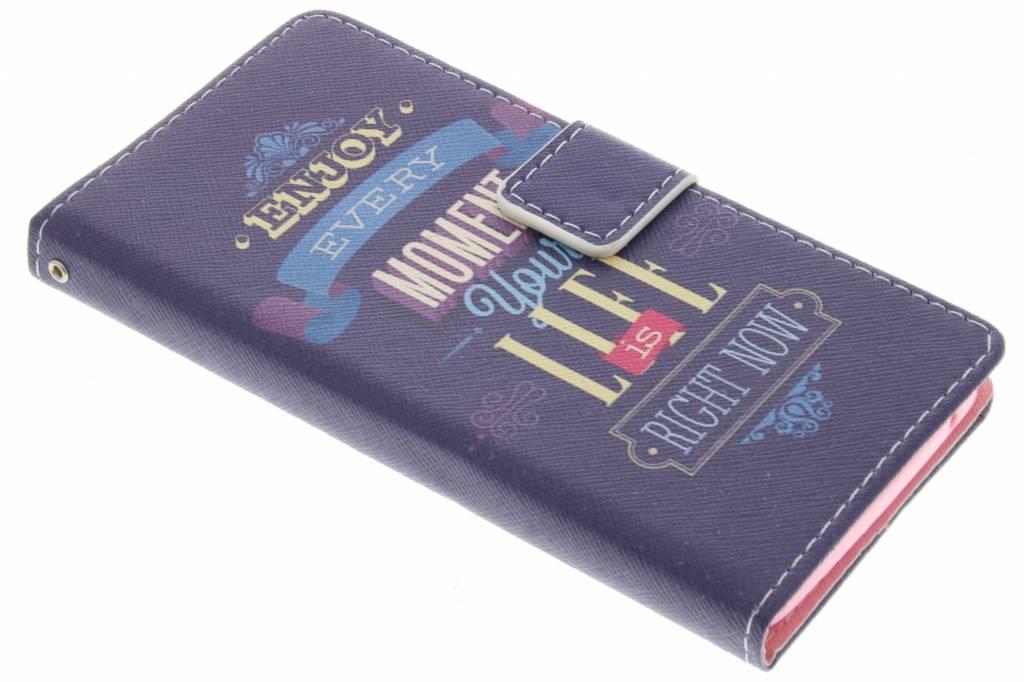 Enjoy design TPU booktype hoes voor de Wiko Rainbow