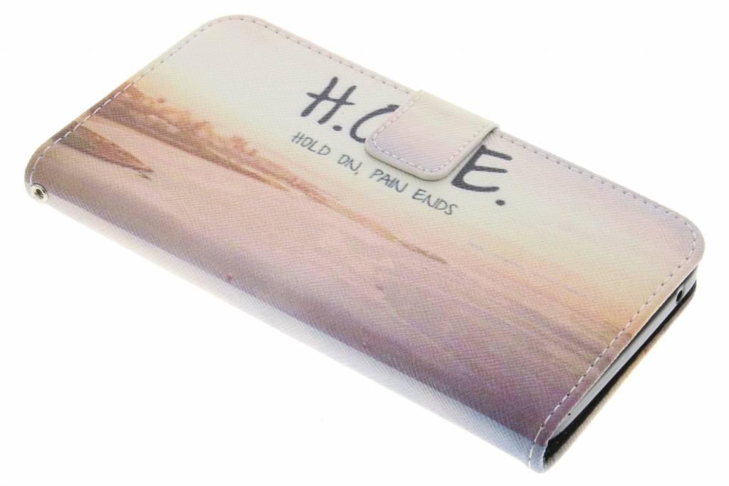 Hope design TPU booktype hoes voor de Wiko Rainbow