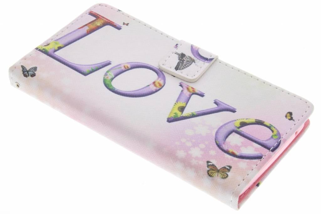 Love design TPU booktype hoes voor de Wiko Rainbow