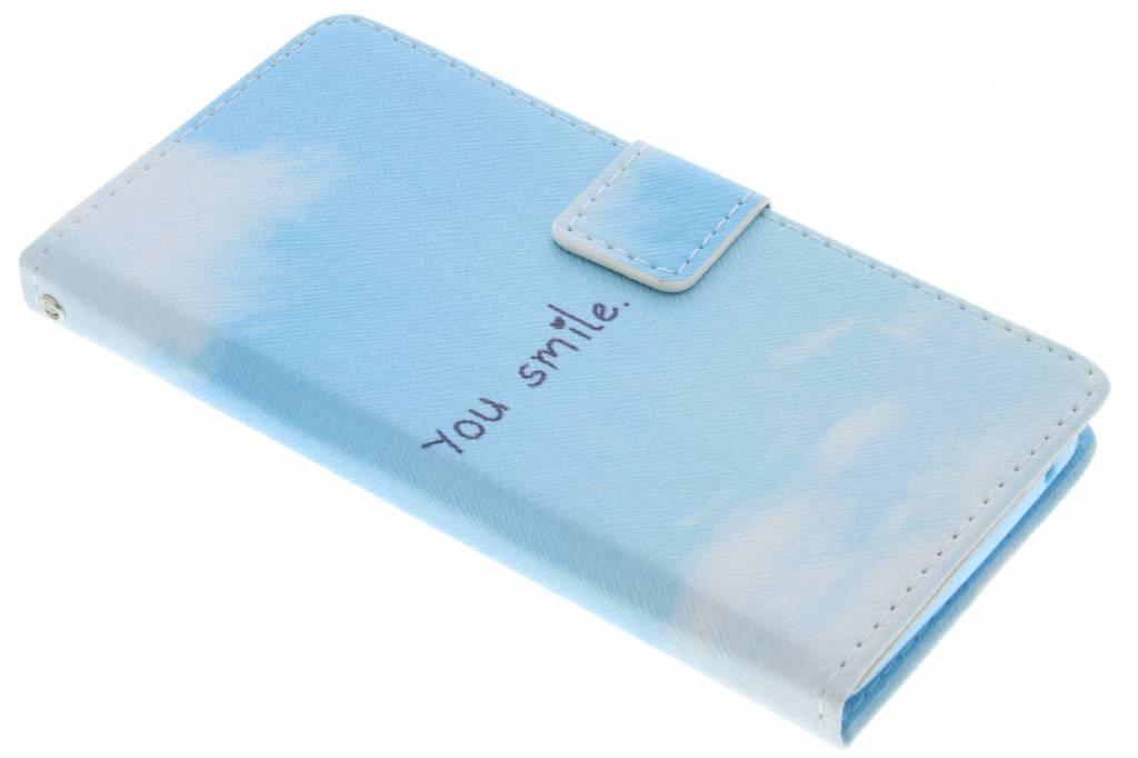 Smile design TPU booktype hoes voor de Wiko Rainbow