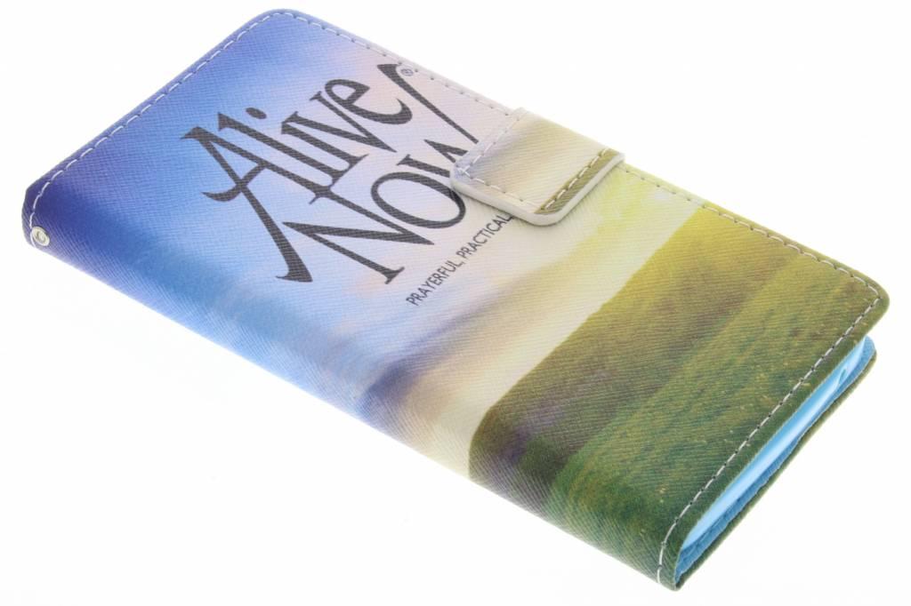 Alive now design TPU booktype hoes voor de Wiko Rainbow