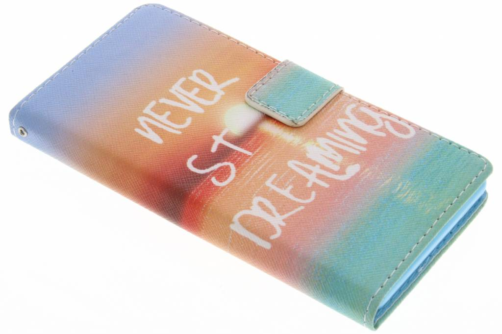 Never stop dreaming design TPU booktype hoes voor de Sony Xperia Z3