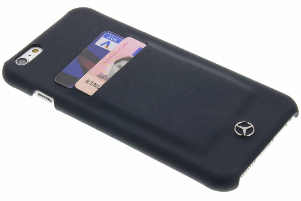 Mercedes-Benz Leather Hard Case with slots voor de iPhone 6(s) Plus - Donkerblauw