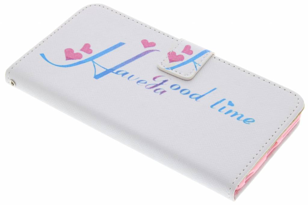 Have a good time design TPU booktype hoes voor de iPhone 6(s) Plus