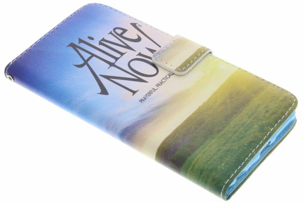 Alive now design TPU booktype hoes voor de iPhone 6(s) Plus