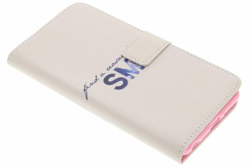 Smile design TPU booktype hoes voor de iPhone 6(s) Plus