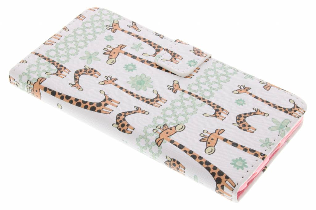 Giraffes design TPU booktype hoes voor de iPhone 6(s) Plus