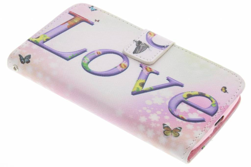 Love design TPU booktype hoes voor de Motorola Moto G 2nd Gen 2014