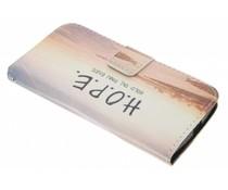Design TPU booktype hoes Motorola Moto G 2nd Gen 2014