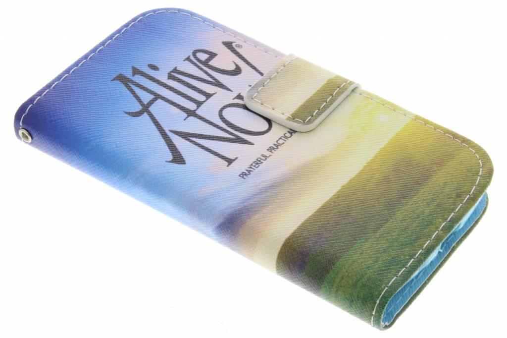 Alive now design TPU booktype hoes voor de Samsung Galaxy Core Plus