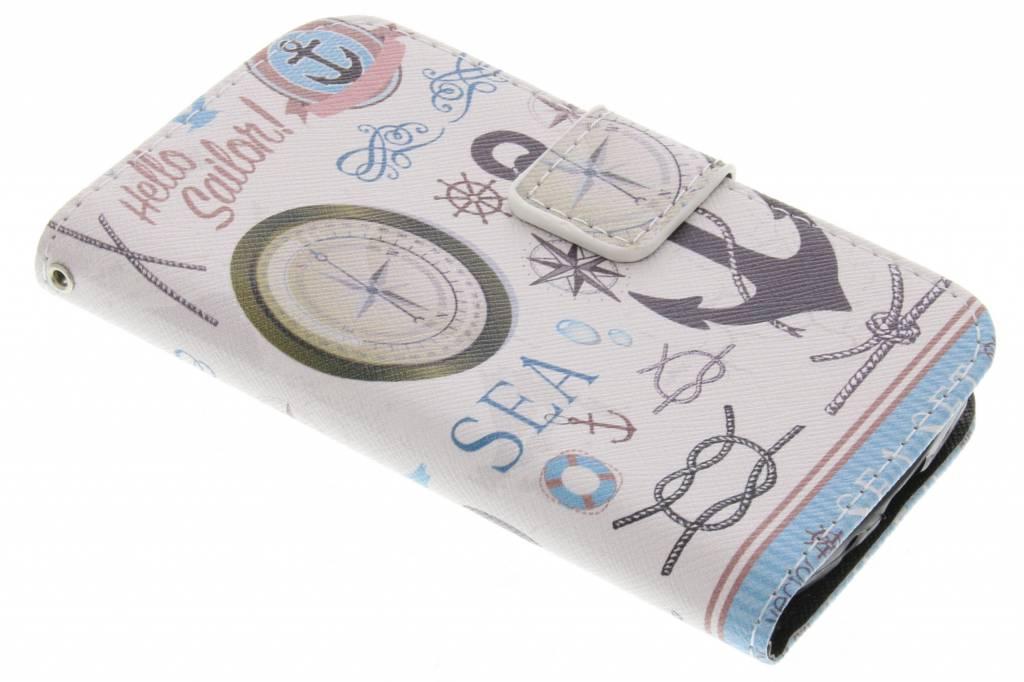 Sailor design TPU booktype hoes voor de Samsung Galaxy Core Plus