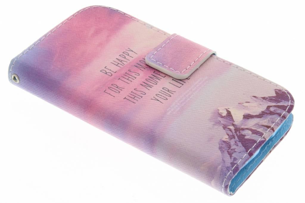 Be happy design TPU booktype hoes voor de Samsung Galaxy Core Plus
