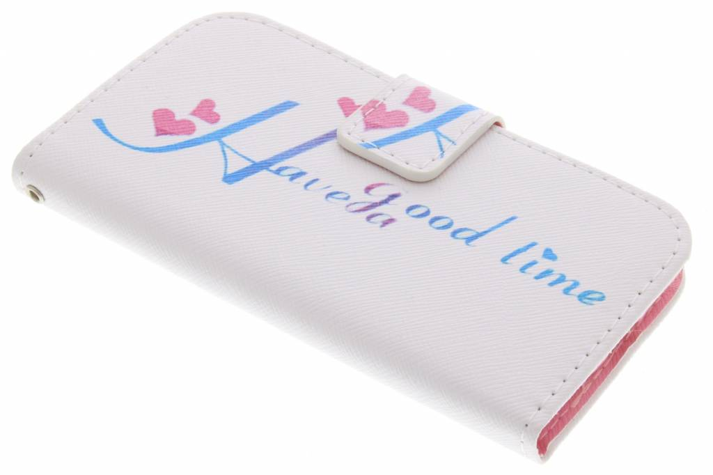 Have a good time design TPU booktype hoes voor de Samsung Galaxy Core Plus