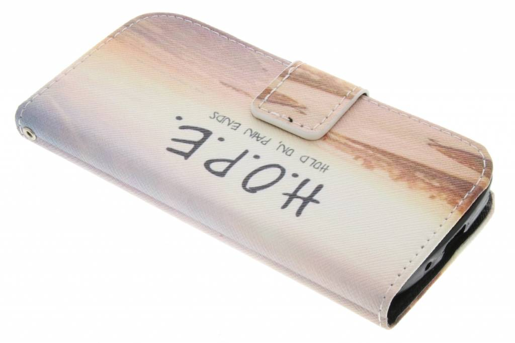 Hope design TPU booktype hoes voor de Samsung Galaxy Core Plus