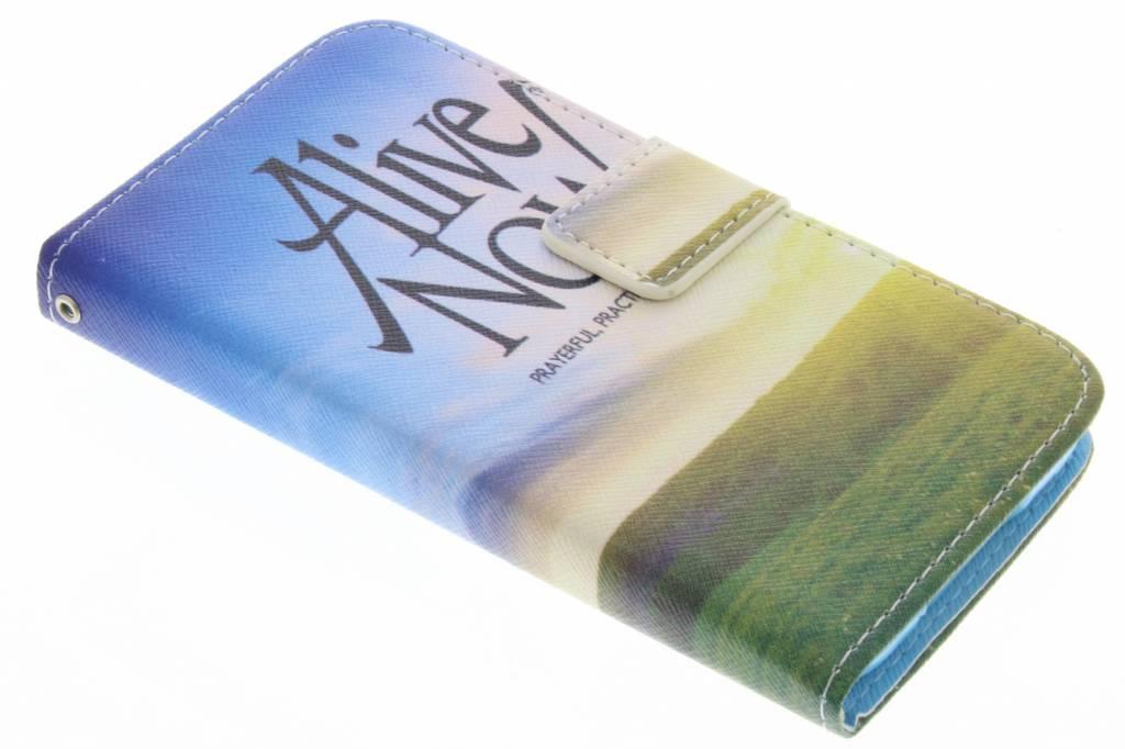 Alive now design TPU booktype hoes voor de Samsung Galaxy S5 (Plus) / Neo