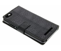 Crocodile skin wallet booktype cover Wiko Lenny 3