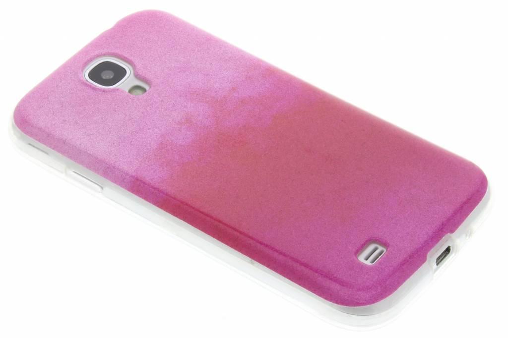 Fuchsia glitter TPU softcase voor de Samsung Galaxy S4
